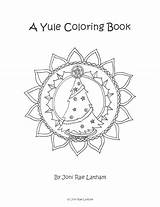Yule Winter Solstice Coloring Pages Pagan Etsy Books sketch template