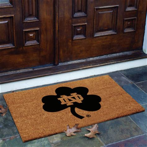 college doormats notre dame fighting ncaa college rectangular outdoor