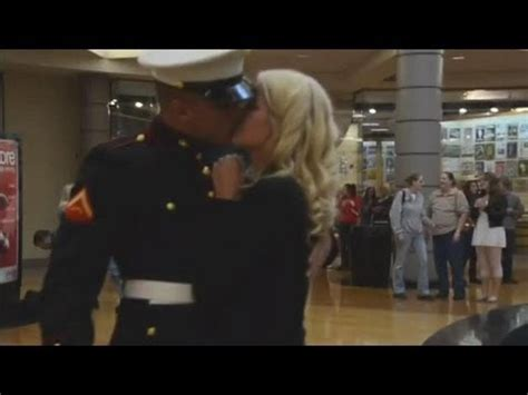 marine surprises girlfriend  propose  youtube
