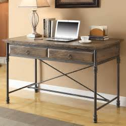 executive writing desk with 2 drawer wayfair