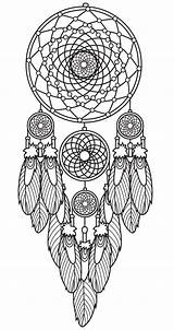 Coloring Dream Catcher Pages sketch template