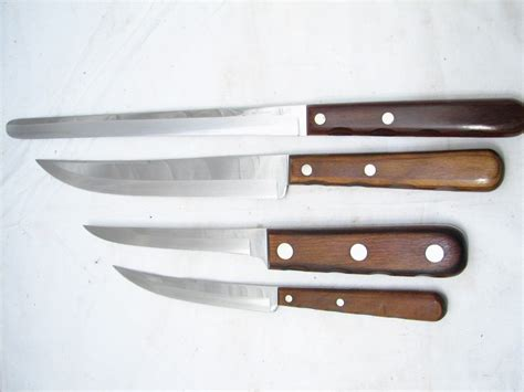 xx kitchen knives set vintage xx kitchen cutlery knives knife w holder
