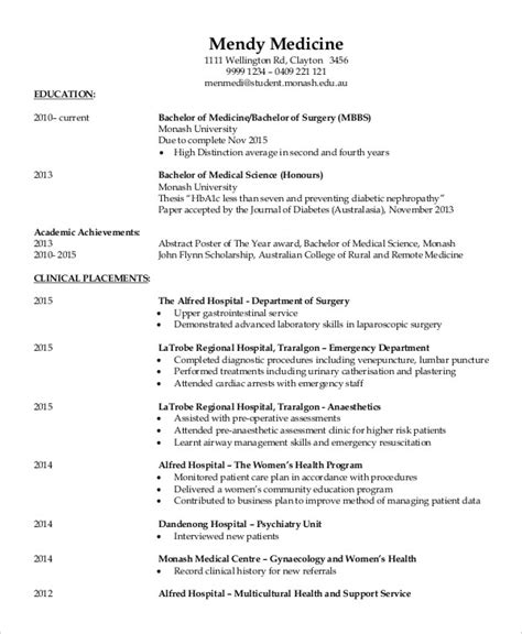 fresher doctor resume   word  documents
