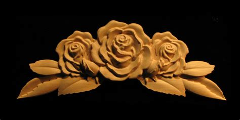 carved wood onlay carved rose