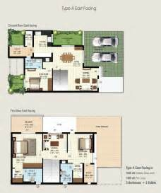 builder floor plans 3bhk row house for sale in hennur road bangalore at ramky