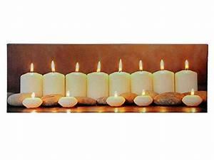 Led Bild Kerzen : weihnachtsbild mit beleuchtung led bild 90cmx30cm batteriebetrieben brennende kerzen ~ Frokenaadalensverden.com Haus und Dekorationen