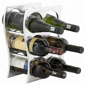 Porte Bouteille Vin : porte bouteille wave aluminium ~ Melissatoandfro.com Idées de Décoration