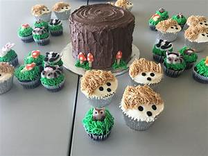 Woodland Creatures Cake And Cupcakes - CakeCentral com