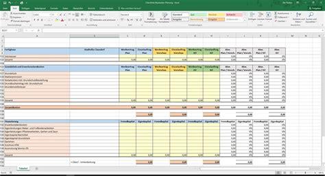 excel checkliste baukosten planung hausbau excel