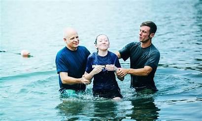 Baptism Lake Fountain Church