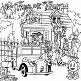 Coloring Pages Haunted Scary Osu Volleyball Football sketch template