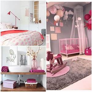 deco rose bonbon inspiration et idees de decoration With deco chambre gris et rose