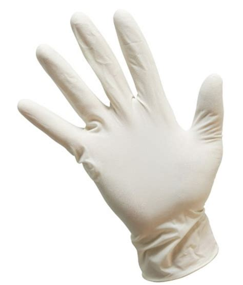 hair color dying latex glove white hospital grade style