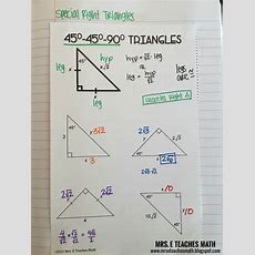 Right Triangles Interactive Notebook Pages  Mrs E Teaches Math