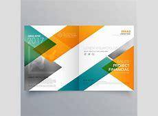 Creative business bi fold brochure design template Vector