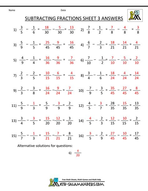 adding and subtracting fractions worksheet year 3 kidz