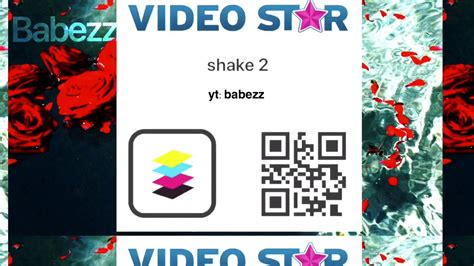 video star qr codes shakes rotates stretch