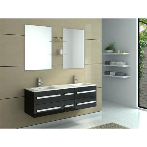 meuble salle de bain vasques coloris noir achat vente salle de bain complete meuble