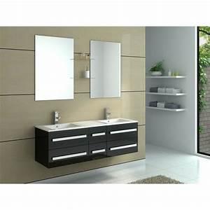 Meuble De Salle De Bain En Solde : meuble de salle de bain en bois avec double vas achat ~ Edinachiropracticcenter.com Idées de Décoration