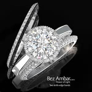 wedding ring enhancer flower of light with engagement ring enhancers
