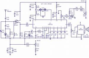 Am Radio Circuit Based On Tda1572  9v Operation 2w Output