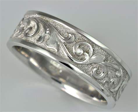 tom colicchio wedding ring engraved hand engraved wedding band by tom mathis of symmetry