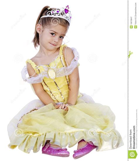 Cute Little Girl With Princess Dress On Stock Image