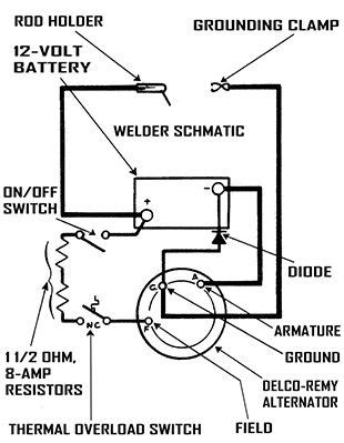 How To Read A Welding Diagram by Build A Portable Dc Arc Welder For 20 In 2019 Tools