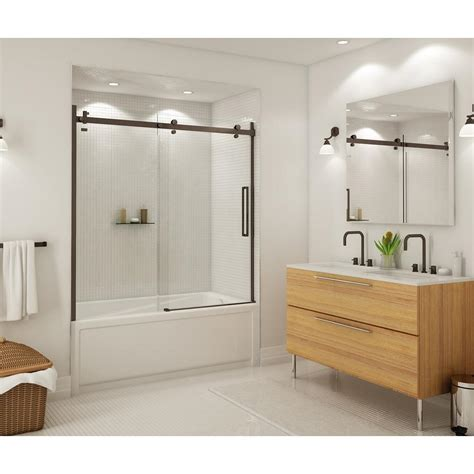 maax halo      frameless sliding tub door