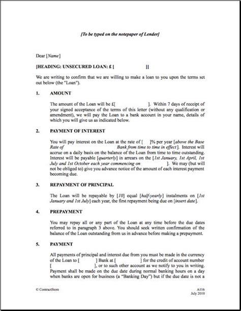 Personal Loan Repayment Agreement - Free Printable ...