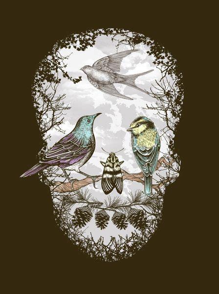 Nature Skull Art Print Misc