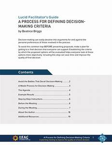 How To Establish An Effective Decision