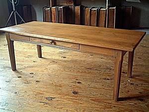 Table Basse Rustique : table rustique basse en pin et h tre un tiroir en fa ade antiquites brocante meubles anciens ~ Teatrodelosmanantiales.com Idées de Décoration