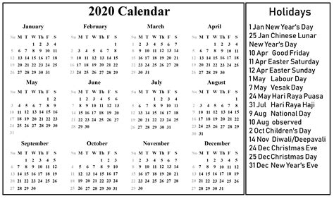 singapore calendar templates excel word