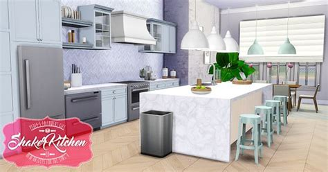 design new kitchen sims 4 cc s the best shaker kitchen by peacemaker ic 3202