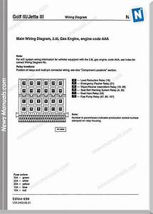 Golf Jetta Volkswagen Wiring Diagram