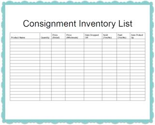 consignment inventory tracking spreadsheet consignment