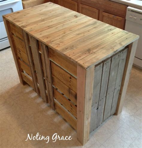 kitchen island from pallets how to make a pallet kitchen island for less than 50 5071
