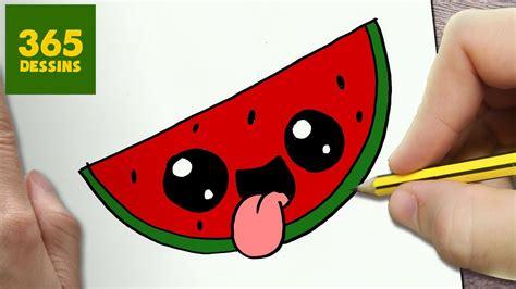 comment dessiner pasteques kawaii etape par etape dessins kawaii facile youtube