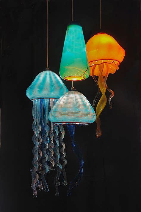 jellyfish pendant light striniartglasscustomlightingstriniartglasscustomlighting31