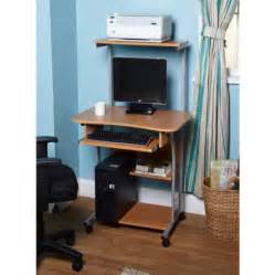 mobile computer tower with shelf multiple finishes