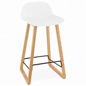 Tabouret Mi Hauteur : tabouret de bar chaise de bar mi hauteur scandinave scarlett mini blanc ~ Teatrodelosmanantiales.com Idées de Décoration