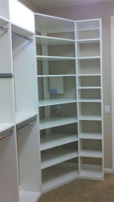 corner closet shelves build corner closet woodworking projects plans