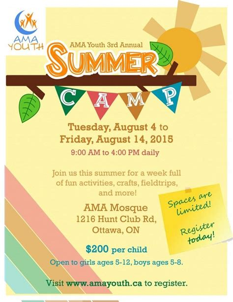 summer camp flyer template deadline to register for summer camp for boys and girls