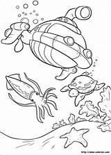 Submarine Coloring Printable Easy sketch template