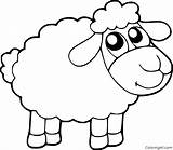 Sheep Coloring Pages Cartoon sketch template