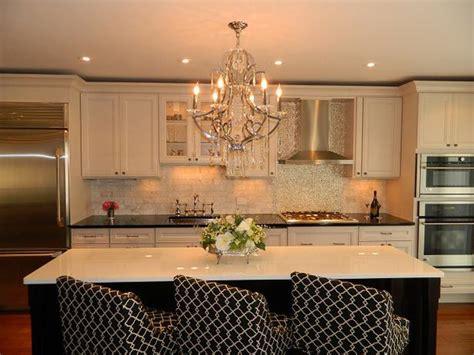 romantic kitchen  chandelier hgtv