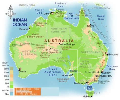 australia map geography pictures map  australia region