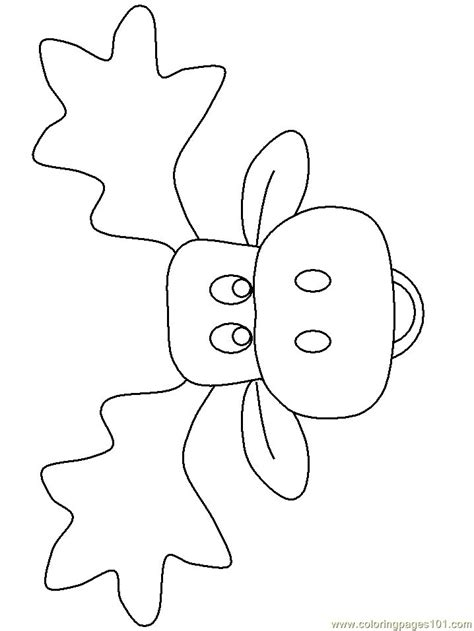 coloring pages moose face mammals moose  printable christmas coloring pages moose
