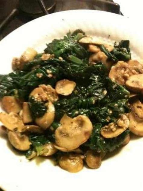 Spinach and Mushroom Side Recipe
